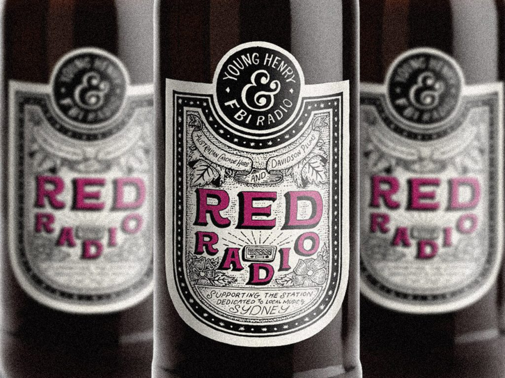 Red Radio Beer Label